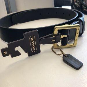 Brand New Coach Black Leather Belt